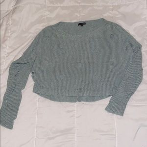 Cropped Teal sweater